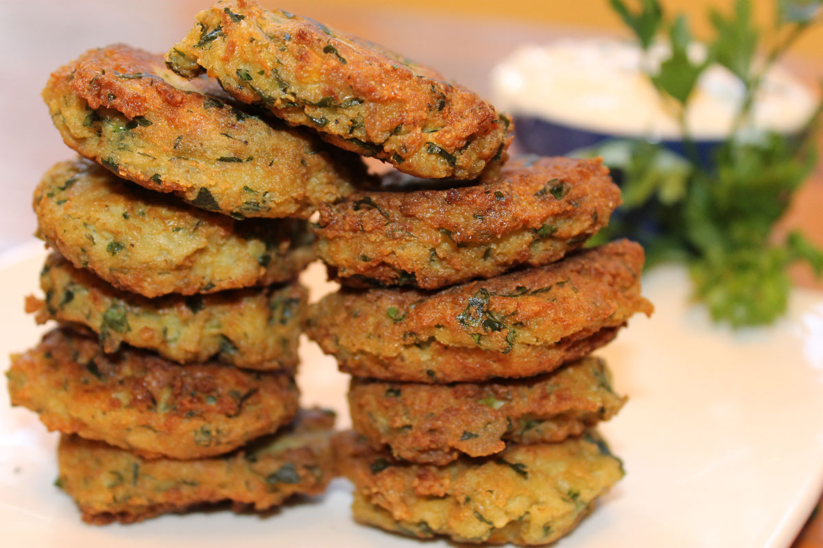 delicious stack of paleo falafel